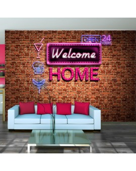 Fototapete  Welcome home  pink neon